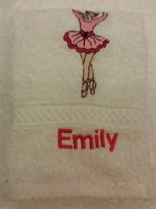 BALLET DANCER PERSONALISED FACE CLOTH